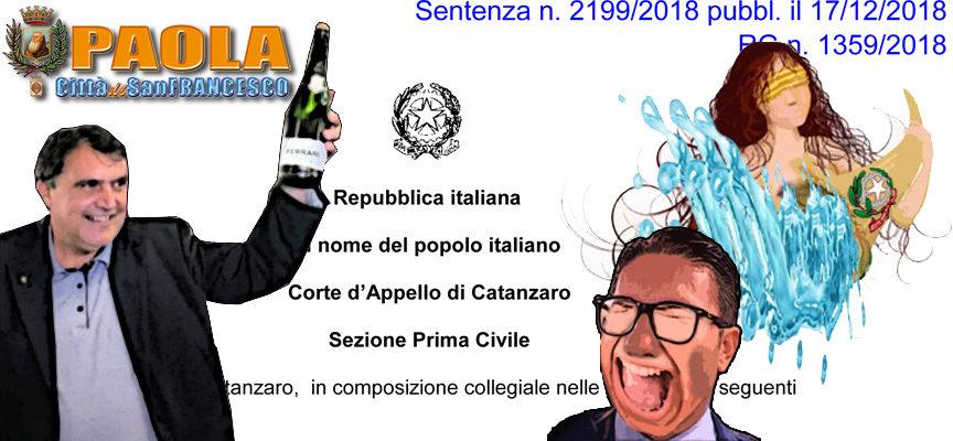 """Paola – Ferrari perde pure in Appello. A Catanzaro Perrotta """"resta"""" sindaco"""