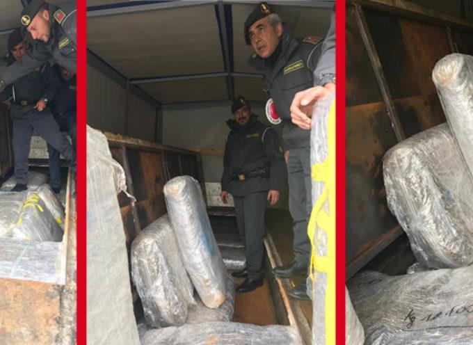 GdF sequestra carico da oltre 150Kg di Marijuana e Hashish in Provincia