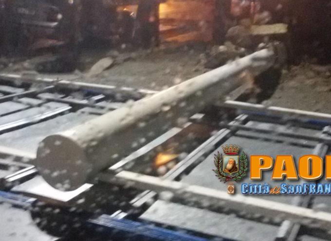 Paola – Soffia il vento e fioccano i danni, anche strade interrotte – FOTO