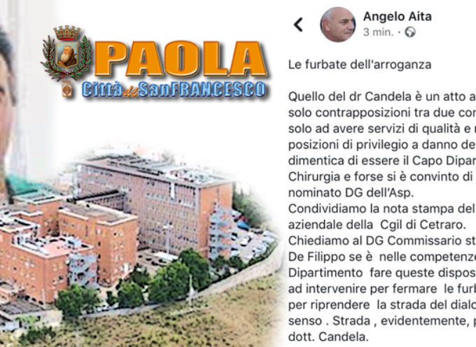 Paola: Candela porta le Emergenze/Urgenze in città. Polemiche da Cetraro