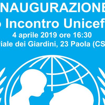 Paola – Domani, 4 aprile, inaugurazione del nuovo punto Unicef (ore 16.30)