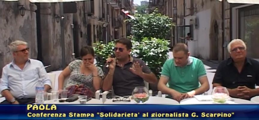 Paola – Macchina incendiata al giornalista, conferenza di solidarietà [VIDEO INTEGRALE]