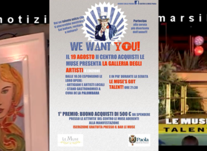 Arte e Talento prendono vita al Centro Commerciale Le Muse [VIDEO REPORT]