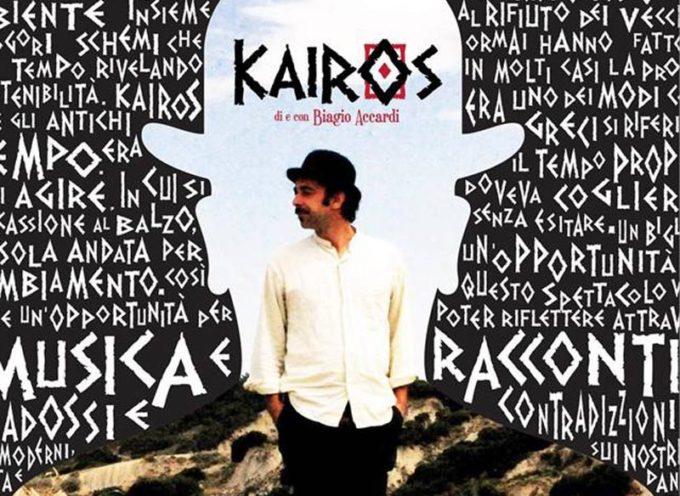 """Il tempo propizio per un Cantastorie: Accardi in tour con """"Kairos"""""""