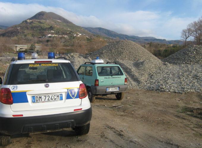 Paola: Sequestrata un'area  lungo le sponde del torrente Deuda