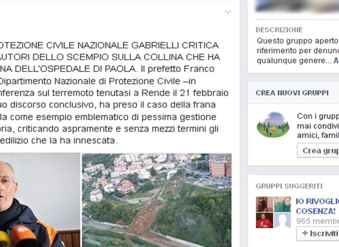 """Frana Ospedale Paola – La """"velina"""" di Carlo Tansi"""