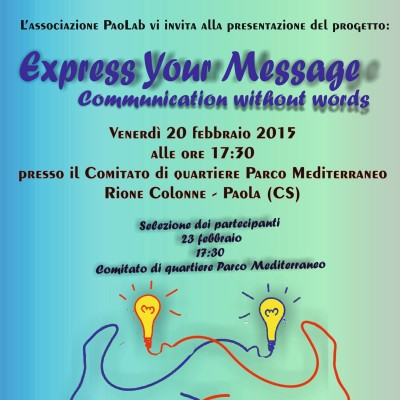 "Paola – Paolab presenta ""Express Your Message"""