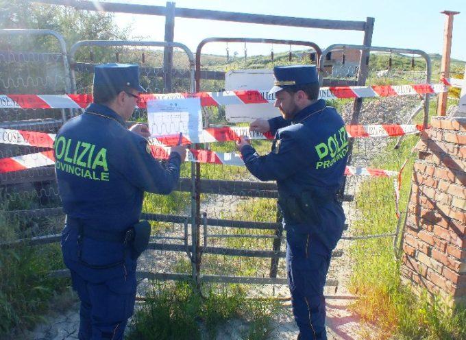 Polizia Provinciale sequestra un'area di circa 10.000 mq