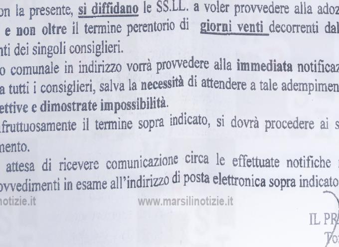 """Paola – Il Prefetto """"precetta"""" l'amministrazione Ferrari [l'opposizione: «GRAVISSIMO»]"""