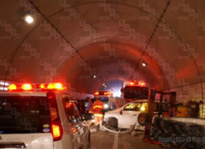 Grave incidente nella galleria lunga della Crocetta