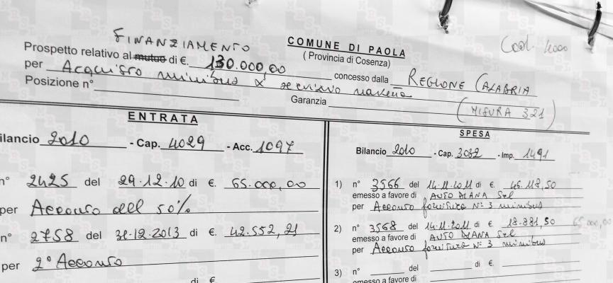 Il Consiglio Comunale Paola approva ma è mistero sui pulmini [che fine hanno fatto i soldi?]