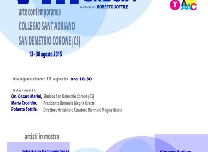 VIII Biennale Magna Grecia a S. Demetrio Corone