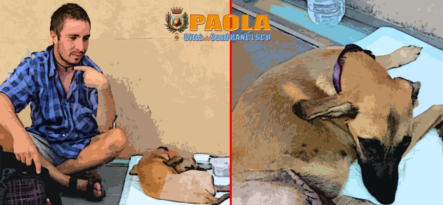 Paola – Cagnolina salvata dalla generosità di un Poliziotto