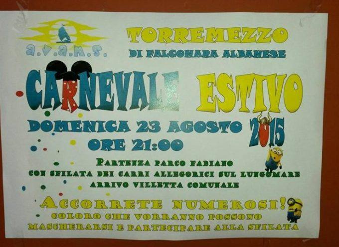A Torremezzo stasera la II edizione del Carnevale Estivo