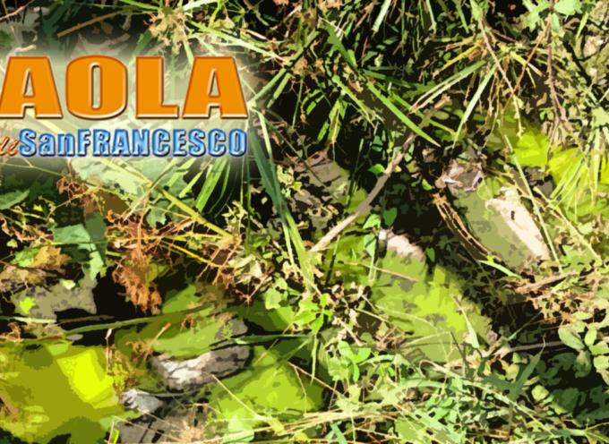 Paola – Strano liquido verdognolo invade Viale Charitas [FOTO]