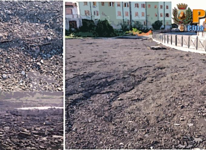 Paola – Il Parcheggio in centro continua a sprofondare [FOTOGALLERY]