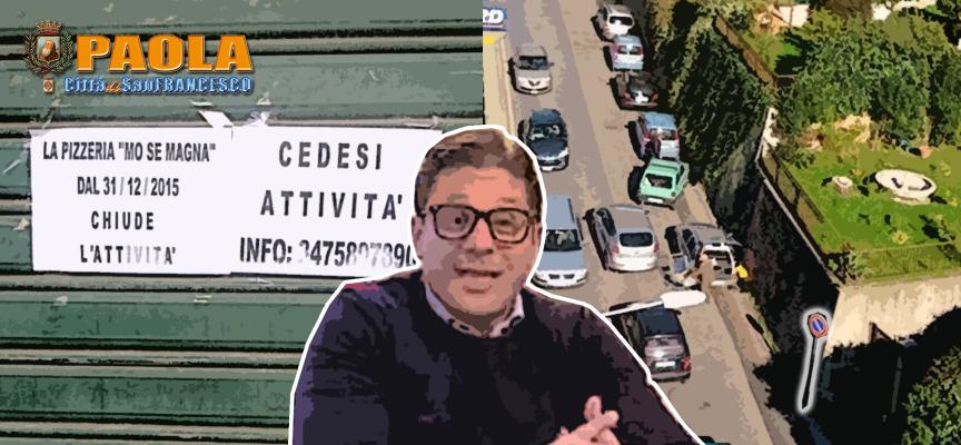 """[Paola] Vie e negozi in tilt ma per Basilio Ferrari è """"restaurazione"""""""