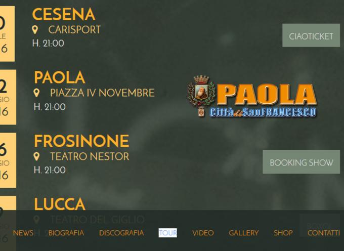 Paola – Per il concerto del 2 Maggio arriverà Alex Britti