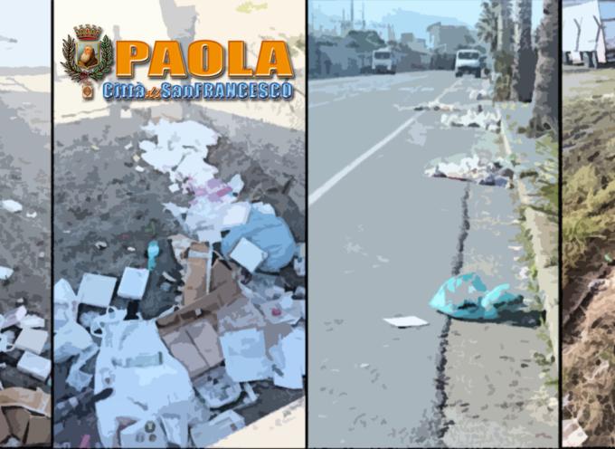 Paola – Passata (da giorni) la Fiera, sul Lungomare è ancora caos