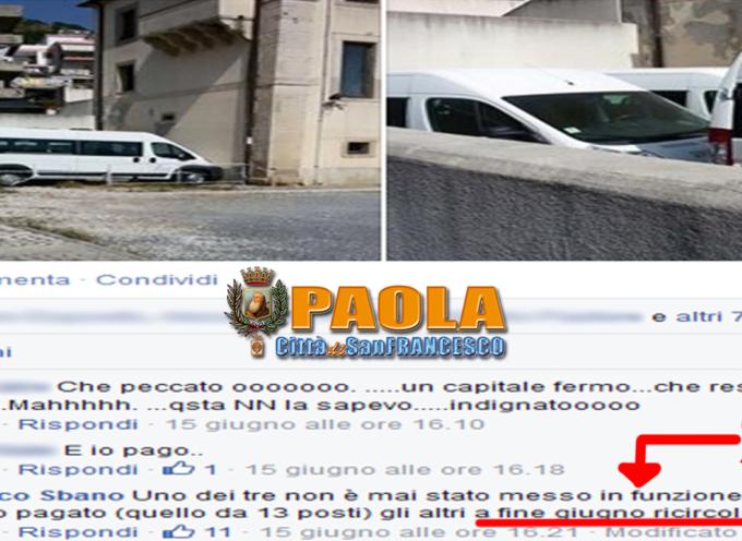 Paola – Perso il finanziamento dei minibus. 130mila euro in fumo