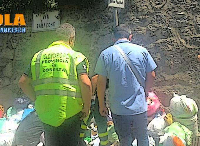 Paola – Controlli contro l'abbandono dei rifiuti, elevati verbali