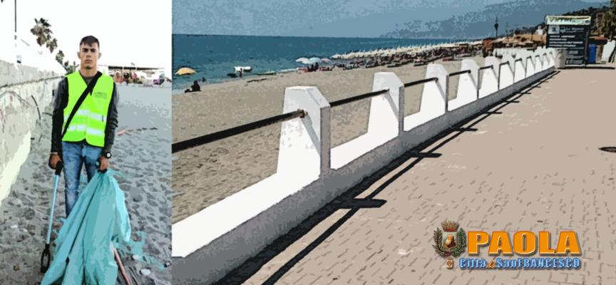 """Paola – Lungomare e spiaggia """"OK"""", grazie al lavoro degli operai"""