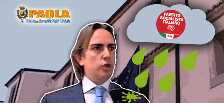 """Paola – Pioggia """"acidula"""" su Francesco Sbano, pure il Psi ne biasima l'etica"""