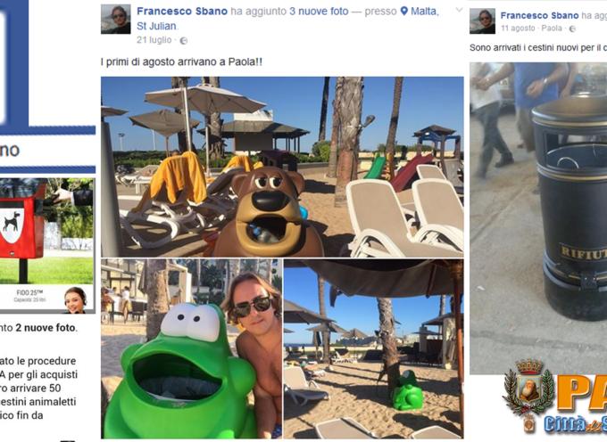 """Paola – Tra """"bestie del pattume"""" e cestini (anche per cani) spesi 30mila euro"""