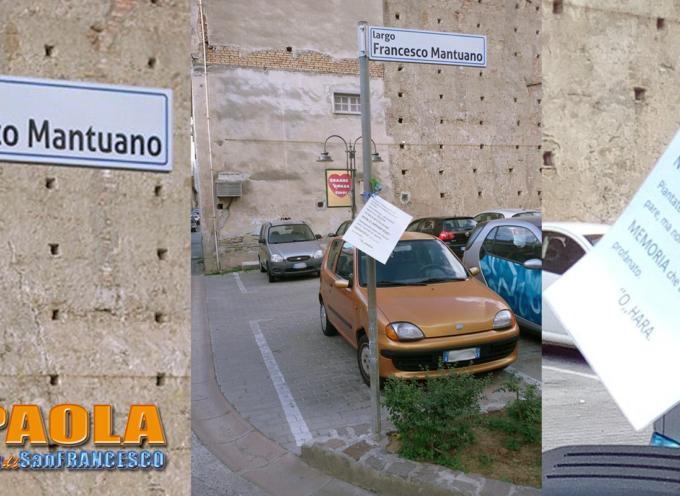 """Paola – Ripristinato il decoro a Largo F.sco Mantuano, il """"Grande O'Hara"""""""