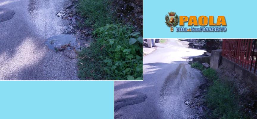 Paola – A Viale dei Giardini sgorga ancora acqua putrida