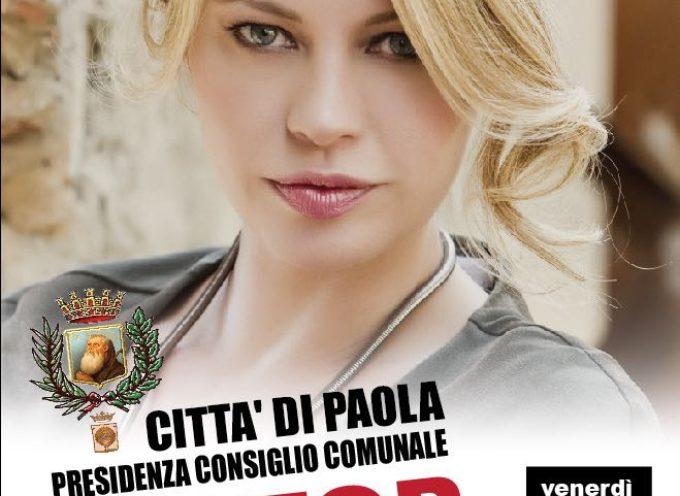 Paola: 25 Novembre, Anna Falchi in città per il NO alla violenza sulle donne