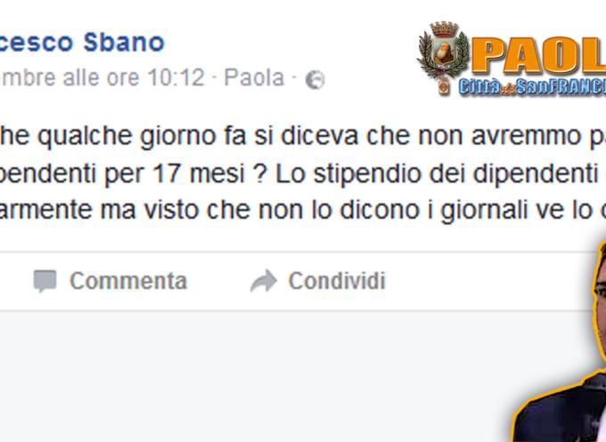 Paola: Minoranza critica su Francesco Sbano: «La bocca è una ricchezza»