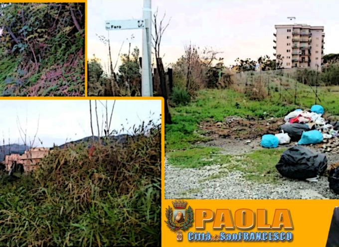 """Paola – Ancora langue Piano Torre, eppure Sbano """"aveva promesso"""" pulizia"""