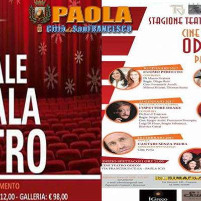 Paola – Dopodomani (10 Gennaio) parte la stagione teatrale all'Odeon