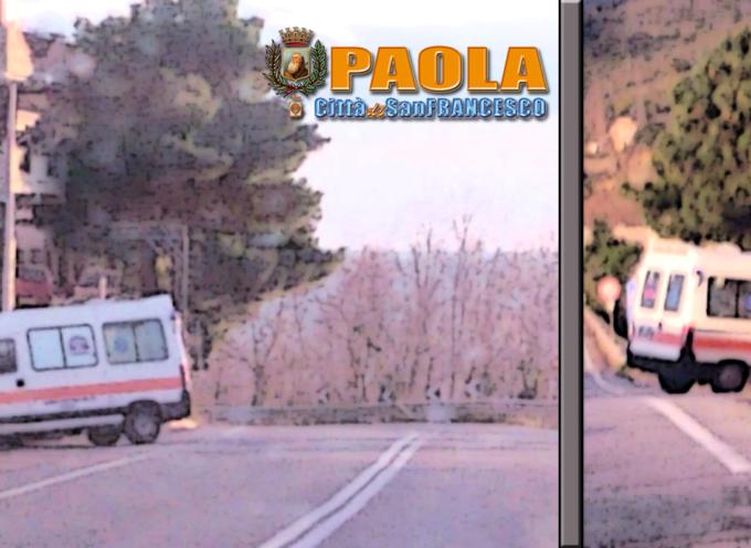 Paola – Autombulanza fuori strada sulla SS18