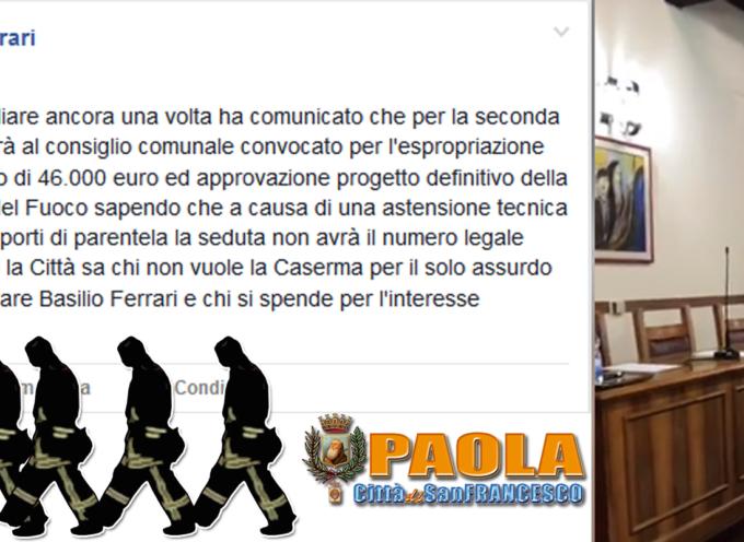 Paola – Patatrac numerico, salta il consiglio sulla Caserma. Stasera replica