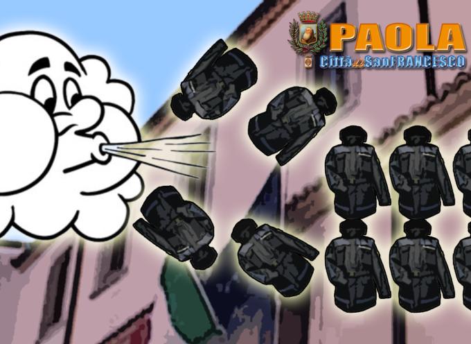 """Paola – Figli e figliastri delle giacche a vento: 8 vigili """"coperti"""" e 4 """"all'aria"""""""