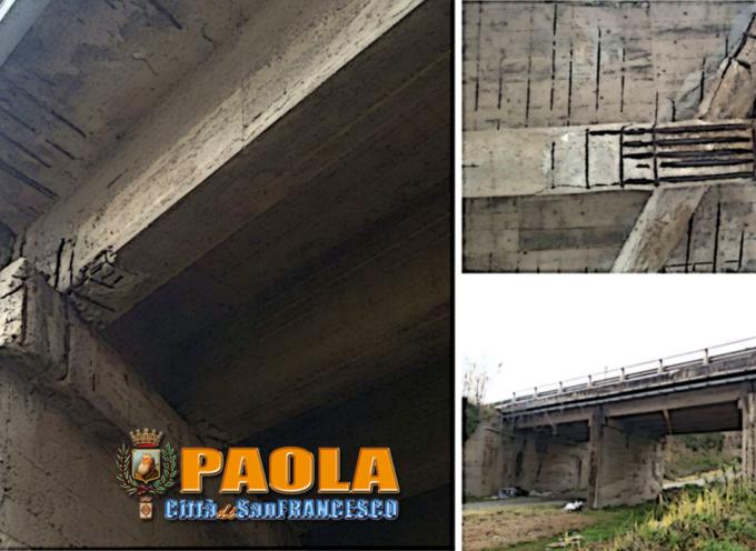 Paola – L'ultimo ponte a nord della città versa in condizioni preoccupanti