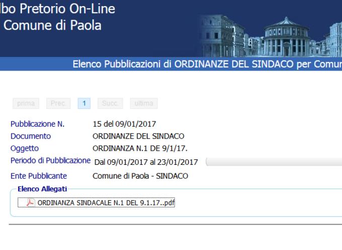 Paola – Il sindaco ordina sospensione delle attività didattiche in una scuola