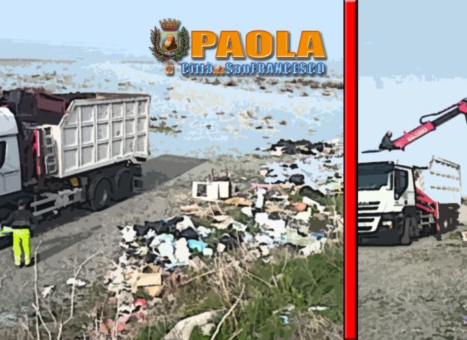 Paola – Ancora verbali e bonifica (zone Sud-Nord) per l'abbandono rifiuti