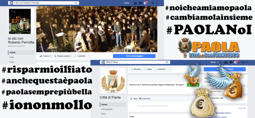 """Paola – Hashtag, pagine ed € (pubblici) per la campagna elettorale """"social"""""""