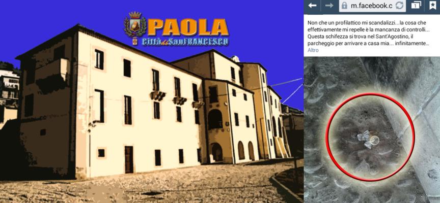 Paola – Al Sant'Agostino, tra incuria e degrado, spuntano pure i preservativi
