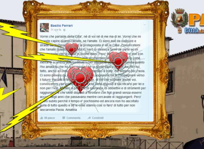 Paola – Ferrari dichiara una forma amore, dal centrosinistra lo bersagliano