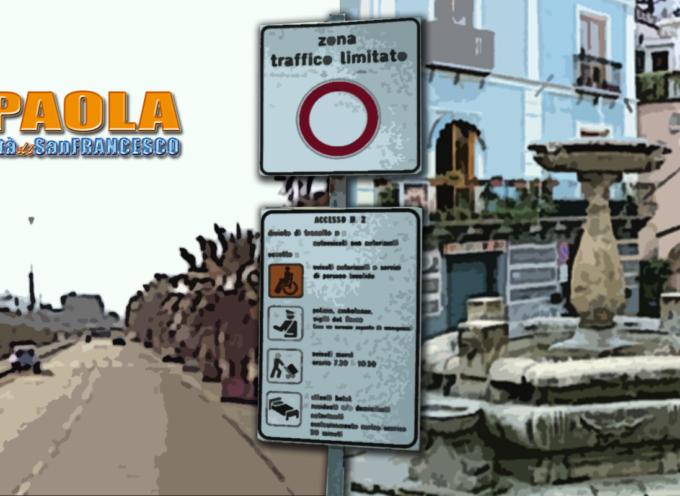 Paola – Su Lungomare e Centro Storico da oggi sono istituite due ZTL