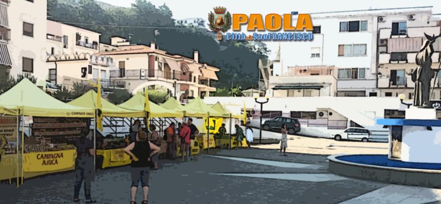 """Paola – Il mercato """"a Km 0"""" si sposta da Corso Roma a Via Sant'Agata"""
