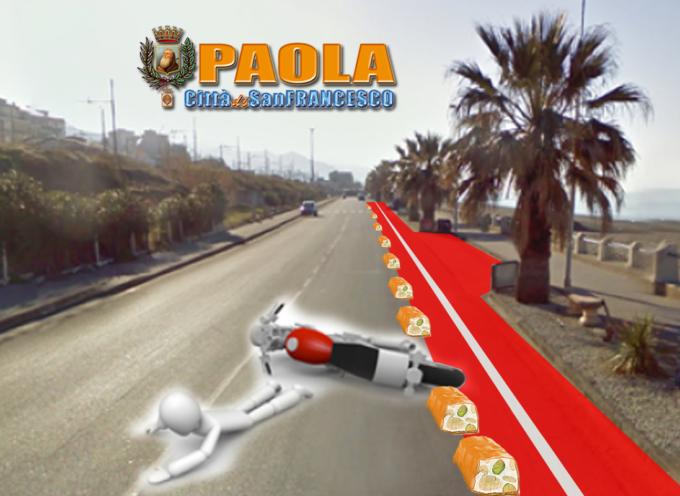 """Paola – S'agganciano ai """"torroncini"""" della ciclovia e cadono sul """"waterfront"""""""