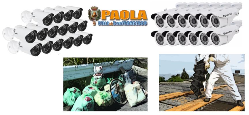 Paola: Video sorveglianza in arrivo (occhi su chi sperde rifiuti e fa altri reati)
