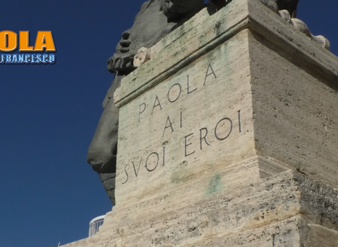 Paola – Celebrata l'Unità Nazionale e quella delle Forze Armate – VIDEO