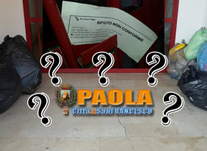 """Paola – L'improvvisa """"stretta"""" sul rifiuto """"residuo"""" fa impennare gli incivili"""