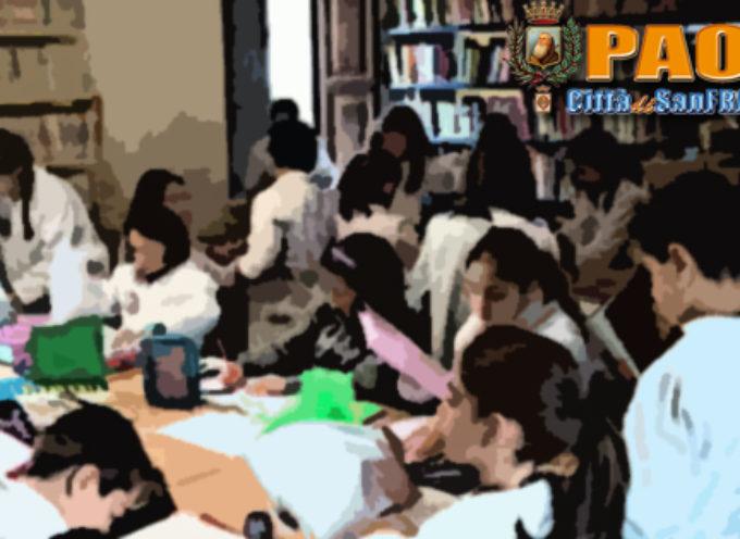 """Paola – La Biblioteca Lanzino """"apre porte"""" ai ragazzi della scuola primaria"""